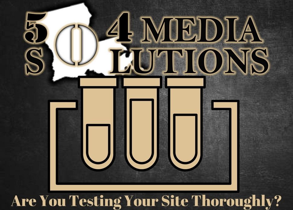 504 Media Mondays – Are You Testing Before Website Updates?