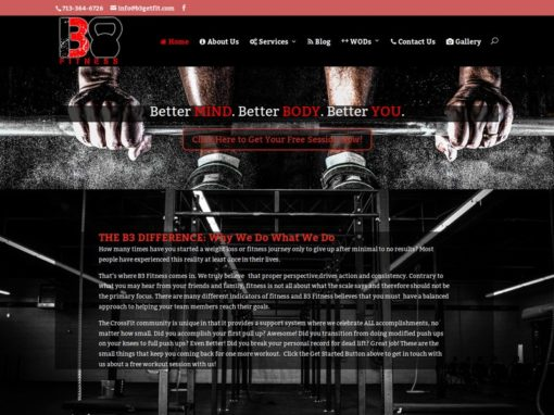 B3 Fitness Web Design