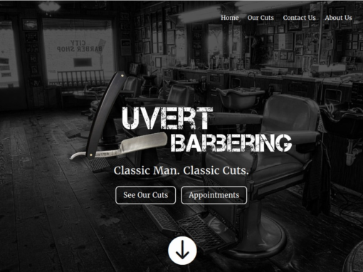 Luvert Barbering Web Design