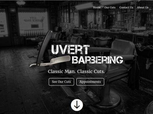 Luvert Barbering Web Design