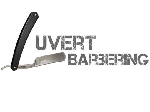Luvert Barbering Logo Design