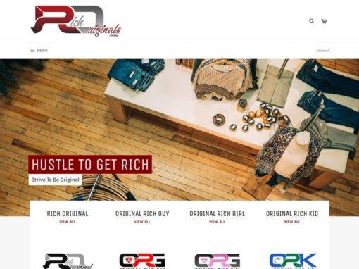 Rich Originals Clothing Web Design