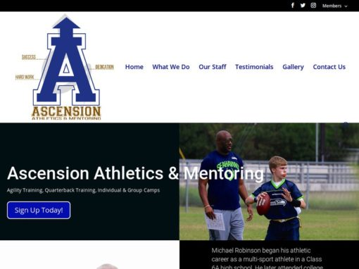 The Ascension Athletics – Web Design