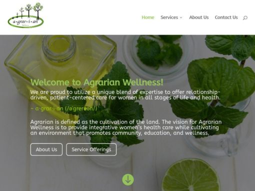Agrarian Wellness Web Design