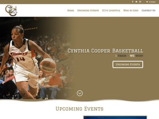 Cynthia Cooper Basketball Web Design