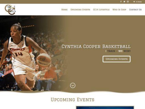 Cynthia Cooper Basketball Web Design