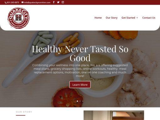 Quake City Nutrition – Web Design