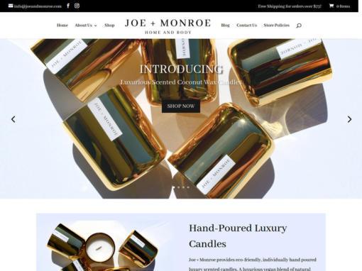 Joe + Monroe – Web Design