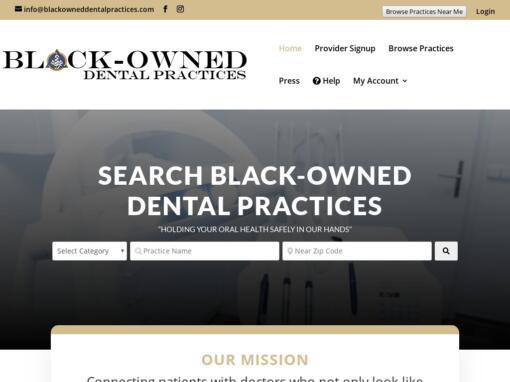 Black-Owned Dental Practices – Web Design